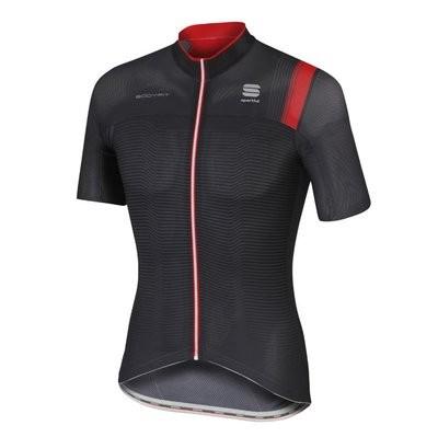 SPORTFUL Bodyfit Pro Race Jersey Black Anthra Red