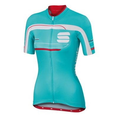 SPORTFUL Gruppetto Pro Lady Jersey SS Turquoise White Pink Coral