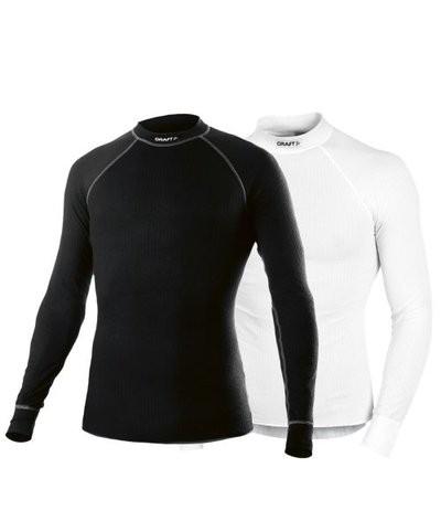 464514c0ea0fe3 Craft active ondershirt met lange mouwen zwart en wit 2-pack