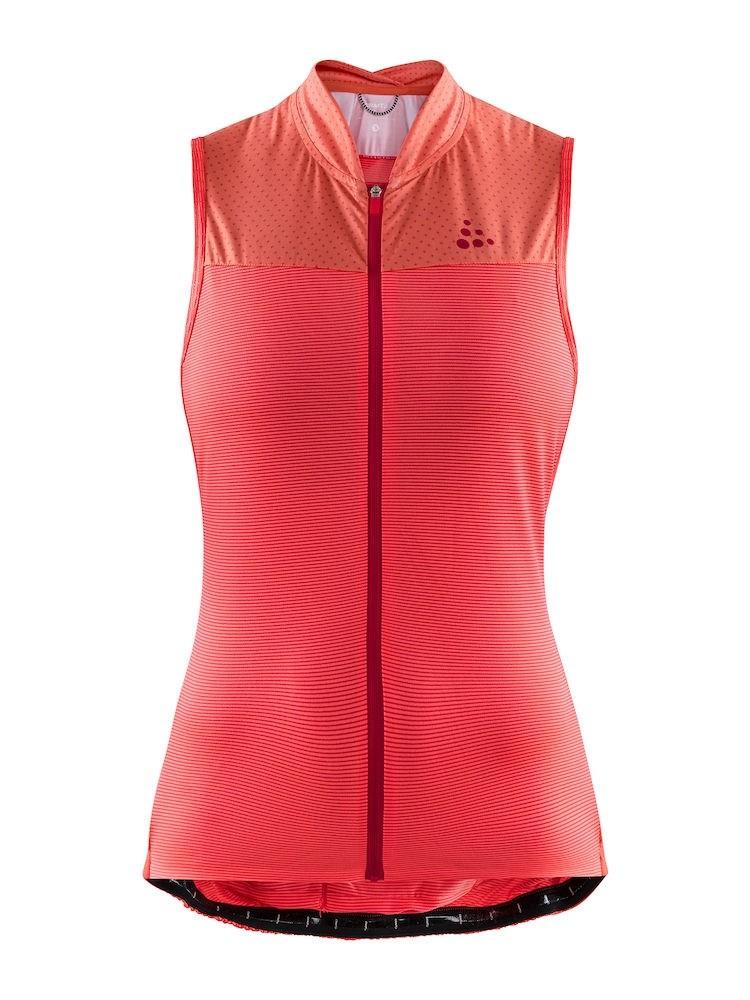 Craft hale glow dames fietsshirt zonder mouwen boost crush roze