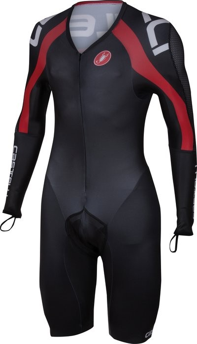 CASTELLI Body Paint 3.0 Speed Suit LS Black Red