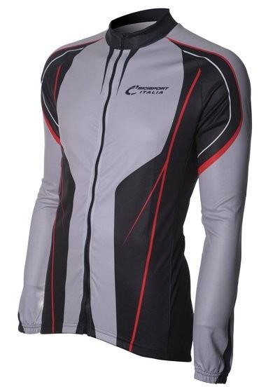 Bici Shirt LM Grey/Black/Red v6