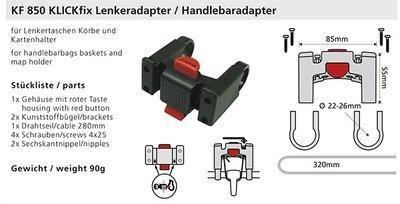 KLICKfix stuur adapter