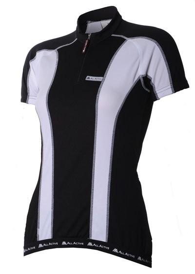 Siena Lady Shirt KM Black/White