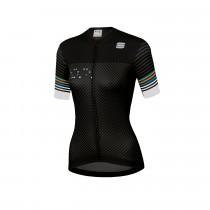 Sportful Sticker W Jersey - Black Anthr White