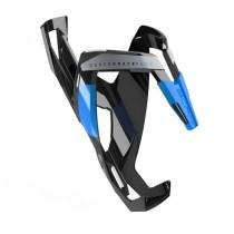 Elite bidonhouder custom race plus glossy zwart - blauw logo