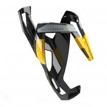 Elite bidonhouder custom race plus glossy zwart - geel logo