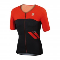 SPORTFUL R&D Cima Jersey SS Black Fire Red
