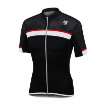 SPORTFUL Pista Jersey SS Black White Red