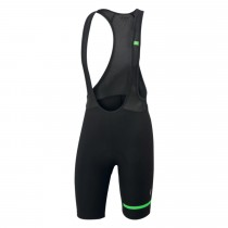 SPORTFUL Giara Bibshort Black Green Fluo