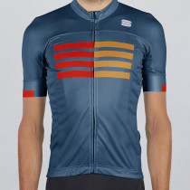 Sportful Wire Jersey - Blue Twilight Fire Red Gold