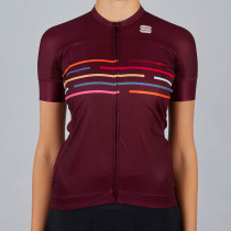 Sportful Vélodrome W Short Sleeve Jerse - Red Wine
