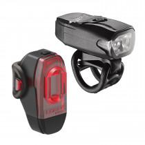 Lezyne KTV Drive Voor- en Achterlicht Set 220F/10R Lumen Black