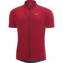 Gore C3 fietsshirt met korte mouwen rood melange (100031)
