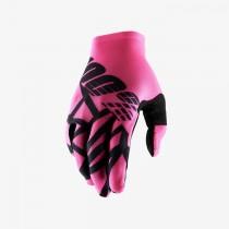 100% celium 2 mtb fietshandschoen neon roze zwart
