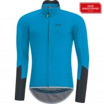 Gore C5 gore windstopper fietsshirt met lange mouwen cyan blauw