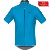 Gore C5 gore windstopper fietsshirt met korte mouwen cyan blauw
