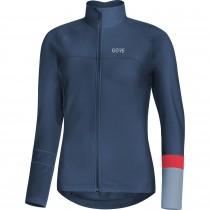 Gore C5 thermo dames fietsshirt met lange mouwen deep water blauw