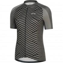 Gore C3 dames fietsshirt met korte mouwen zwart graphite grijs (100455)