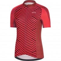 Gore C3 dames fietsshirt met korte mouwen hibiscus roze chestnut rood (100455)