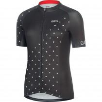 Gore C3 dames fietsshirt met korte mouwen zwart wit (100456)