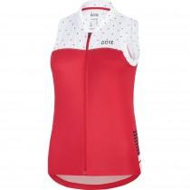 Gore C5 dames fietsshirt zonder mouwen hibiscus roze wit