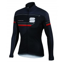 SPORTFUL Gruppetto Partial WS Jacket Black Anhra Red