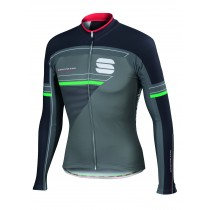 SPORTFUL Gruppetto Thermal Jersey LS Green Olive Anthra Green
