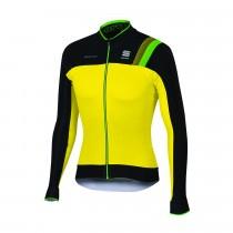Sportful bodyfit pro thermal fietsshirt lange mouwen fluo geel zwart