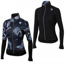 Sportful primavera swith thermal dames fietsjack zwart grijs