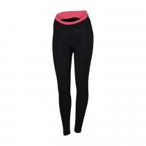 Sportful luna dames lange fietsbroek zwart roze