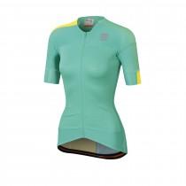 Sportful bodyfit pro 2.0 evo dames fietsshirt met korte mouwen miami groen tweety geel