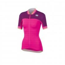 Sportful grace dames fietsshirt met korte mouwen bubblegum roze victorian paars