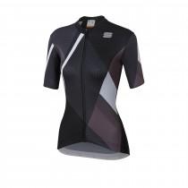Sportful aurora dames fietsshirt met korte mouwen zwart