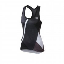 Sportful aurora dames fietsshirt zonder mouwen zwart