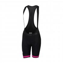 Sportful bodyfit classic dames korte fietsbroek met bretels zwart bubblegum roze