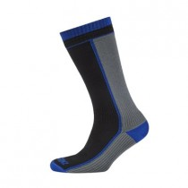 SEALSKINZ Mid Weight Mid Length Sock Black Grey (1111405_004)