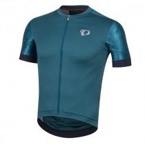 Pearl Izumi elite pursuit speed fietsshirt met korte mouwen teal navy paisley