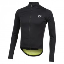 Pearl Izumi pro pursuit wind fietsshirt met lange mouwen zwart screaming geel