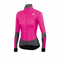 Sportful bodyfit pro dames fietsjack bubble gum roze antraciet