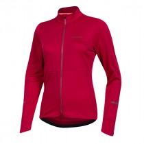 Pearl Izumi quest thermal dames fietsshirt met lange mouwen beet rood