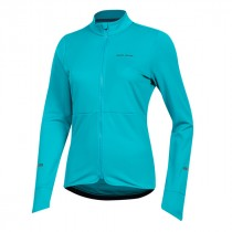Pearl Izumi quest thermal dames fietsshirt met lange mouwen breeze blauw