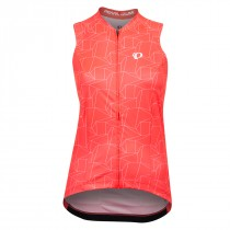 Pearl Izumi Dames Top Attack Atomic Red/Wit Origami