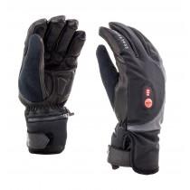 Sealskinz cold weather heated fietshandschoen zwart rood