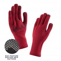 Sealskinz ultra grip fietshandschoen rood zwart