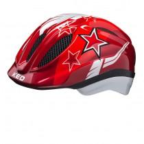 KED meggy kinder fietshelm rood stars
