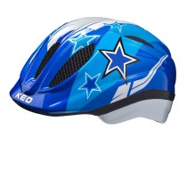 KED meggy kinder fietshelm blauw stars