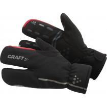 Craft siberian split finger fietshandschoen zwart