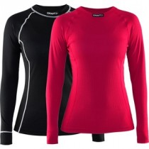 CRAFT Active Lady Shirt LM Multi 2-Pack Black Crush