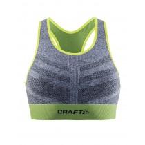 Craft mid impact dames beha grijs groen